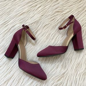 A new day plum purple pump block heel shoes 7.5